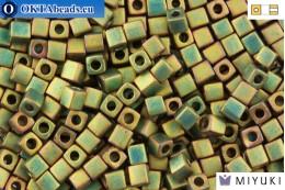 MIYUKI Square Beads Matte Metallic Khaki Iris (2035) 4мм 4CBM2035