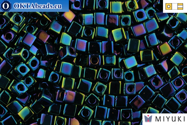 MIYUKI Square Beads Metallic Dk Blue Iris (452) 4мм 4CBM452
