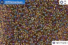 MIYUKI Beads Amethyst Lined Lt Topaz AB 11/0 (342)
