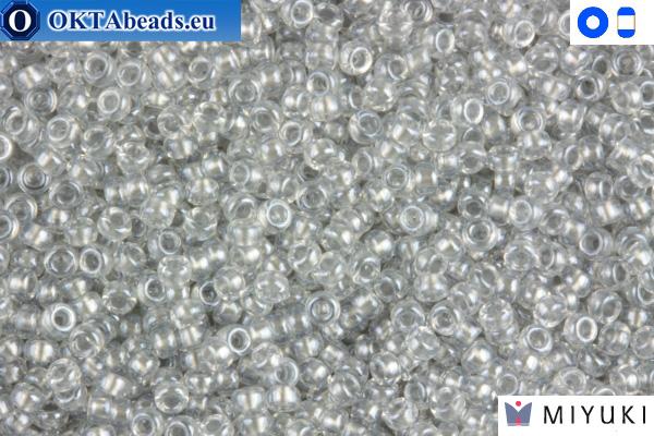 MIYUKI Beads Crystal Grey Luster 15/0 (1105) 15MR1105