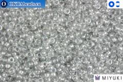 MIYUKI Beads Crystal Grey Luster 15/0 (1105)