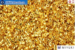 MIYUKI Beads Delica 24Kt Gold Plated 15/0 (DBS31) DBS031
