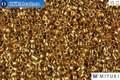 MIYUKI Beads Delica 24Kt Light Gold Plated 11/0 (DB34)