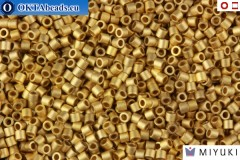 MIYUKI Beads Delica 24Kt Matte Metallic Dark Yellow Gold 15/0 (DBS334)