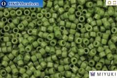 MIYUKI Beads Delica Duracoat Opaque Army Green (DB2357) 11/0, 5g