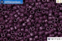 MIYUKI Beads Delica Duracoat Opaque Dark Purple (DB2360) 11/0, 5g