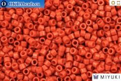 MIYUKI Beads Delica Duracoat Opaque Orange Rust (DB2352) 11/0, 5g
