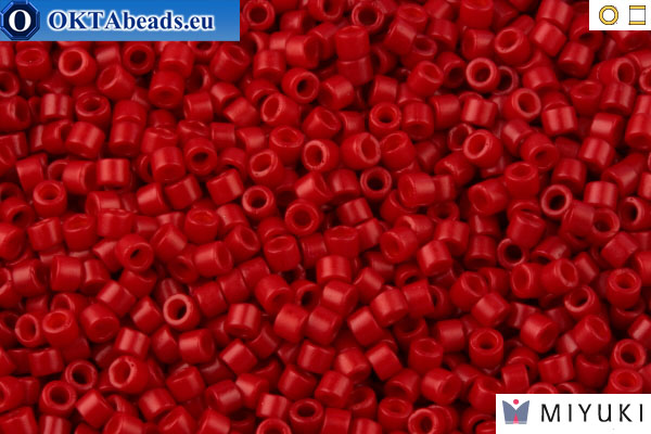 MIYUKI Beads Delica Dyed Opaque Red (DB791) 11/0 DB791