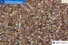 MIYUKI Beads Delica Fancy Lined Rose Taupe (DB2395) 11/0