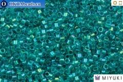 MIYUKI Beads Delica Fancy Lined Teal Green (DB2380) 11/0, DB2380