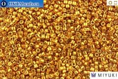 MIYUKI Beads Delica Galvanized DURACOAT Yellow Gold 11/0 (DB1833)