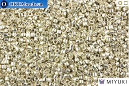 MIYUKI Beads Delica Galvanized Silver 11/0 (DB35) DB035