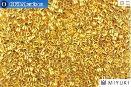 MIYUKI Beads Delica Gold 24Kt Plated 11/0 (DB31)