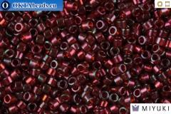 MIYUKI Beads Delica Gold Luster Transparent Red 11/0 (DB105)