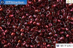 MIYUKI Beads Delica Gold Luster Transparent Red 11/0 (DB105)