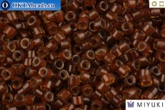 MIYUKI Beads Delica Golden Brown Inside Color Lined Chocolate 11/0 (DB1393)