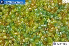 MIYUKI Beads Delica Lined Amber Peridot Mix 11/0 (DB983)