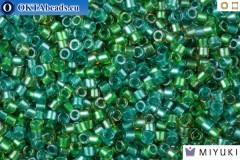 MIYUKI Beads Delica Lined Aqua Teal Mix 11/0 (DB984)