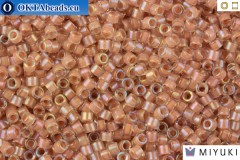 MIYUKI Beads Delica Lined Beige AB 11/0 (DB69)
