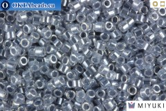 MIYUKI Beads Delica Lined Crystal Grey 11/0 (DB242)