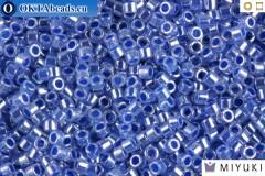 MIYUKI Beads Delica Lined Crystal Medium Blue Luster 11/0 (DB243)