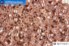 MIYUKI Beads Delica Lined Crystal Taupe 11/0 (DB256)