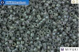 MIYUKI Beads Delica Lined Dark Grey AB 11/0 (DB81) DB081