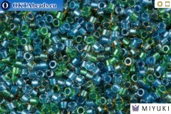 MIYUKI Beads Delica Lined Green Blue Mix 11/0 (DB985)