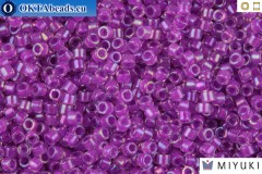 MIYUKI Beads Delica Lined Lilac AB 11/0 (DB73)