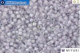 MIYUKI Beads Delica Lined Pale Lavender AB 11/0 (DB80)