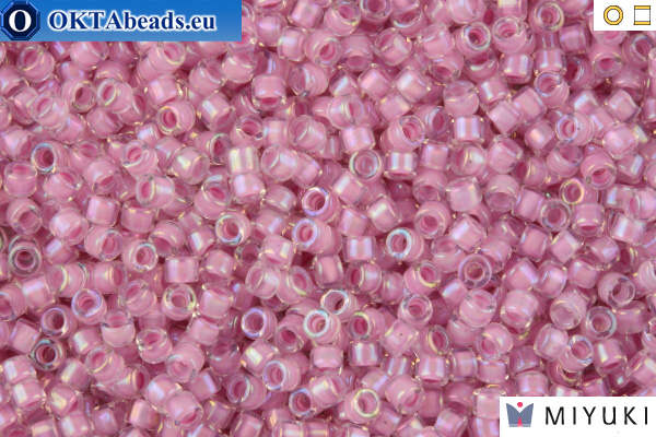 MIYUKI Beads Delica Lined Pale Lilac AB 11/0 (DB72)