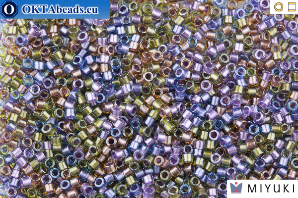 MIYUKI Beads Delica Lined Purple Bronze Mix 11/0 (DB986) DB986