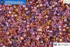 MIYUKI Beads Delica Lined Purple Salmon Mix 11/0 (DB982)