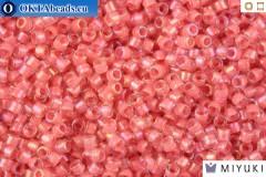 MIYUKI Beads Delica Lined Rose Pink AB 11/0 (DB70)