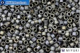 MIYUKI Beads Delica Matte Metallic Silver Gray (DBM307) 10/0, 5gr DBM0307