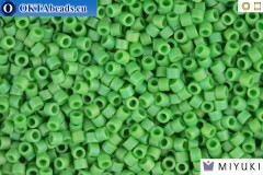 MIYUKI Beads Delica Matte Opaque Green AB 11/0 (DB877)