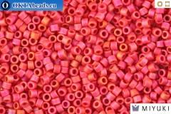 MIYUKI Beads Delica Matte Opaque Maroon AB 11/0 (DB874)