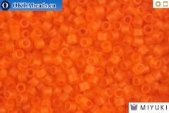 MIYUKI Beads Delica Matte Transparent Orange 11/0 (DB744)