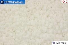 MIYUKI Beads Delica Opaque Chalk White (DBS200) 15/0