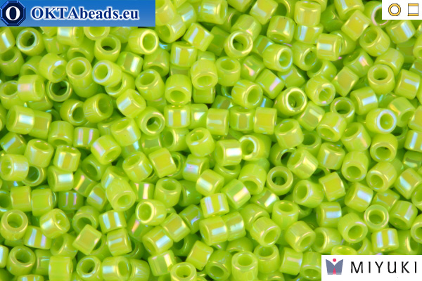 MIYUKI Beads Delica Opaque Chartreuse AB 11/0 (DB169)