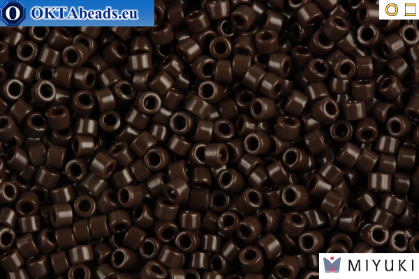 MIYUKI Beads Delica Opaque Chocolate Brown 11/0 (DB734)