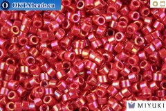 MIYUKI Beads Delica Opaque Red AB 11/0 (DB162)