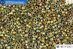MIYUKI Beads Delica Palladium Plated Silver Gold Iris 11/0 (DB546)