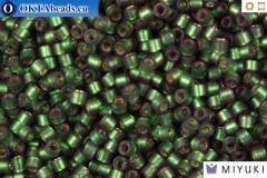 MIYUKI Beads Delica Semi Matte Silver Lined Dark Green 11/0 (DB690)