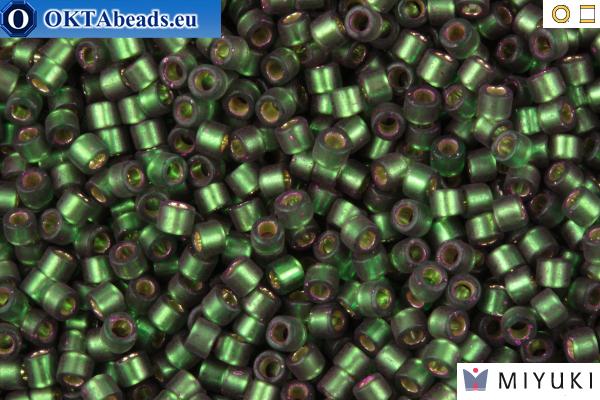 MIYUKI Beads Delica Semi Matte Silver Lined Dark Green 11/0 (DB690) DB690