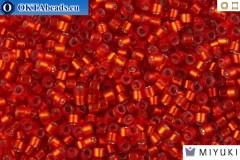 MIYUKI Beads Delica Semi Matte Silver Lined Dark Ruby 11/0 (DB683)