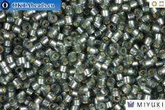 MIYUKI Beads Delica Semi Matte Silver Lined Grey 11/0 (DB697)