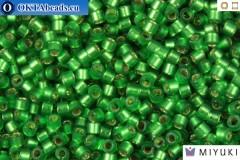 MIYUKI Beads Delica Semi Matte Silver Lined Medium Green 11/0 (DB688)
