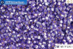 MIYUKI Beads Delica Semi Matte Silver Lined Purple 11/0 (DB694)