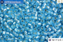 MIYUKI Beads Delica Semi Matte Silver Lined Sky Blue 11/0 (DB692)